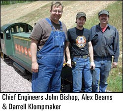 Chief Engineers John Bishop, Alex Beams, and Darrell Klompmaker
